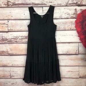 DKNY Tulle Sleeveless Black Dress Medium